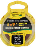 1x7 Pike Fighter Brown Coated Wire SPRO